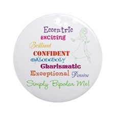 Simply Bipolar Me Ornament (Round)