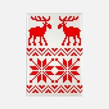 Moose Sweater Christmas Pattern Rectangle Magnet