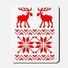 Moose Sweater Christmas Pattern Mousepad