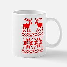 Moose Sweater Christmas Pattern Mug