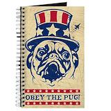 Pug art journal Journals & Spiral Notebooks