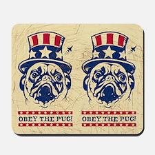 American PUG Revolution! USA Mousepad