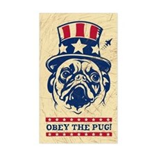American Pug Revolution! Propaganda Decal