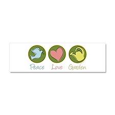 Peace Love Garden Car Magnet 10 x 3