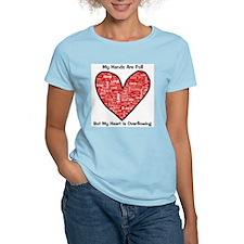 Full Hands/Full Heart Women's Pink T-Shirt