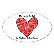 Full Hands/Full Heart Oval Decal