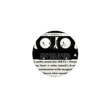 Cassette - Definition Mini Button (10 pack)