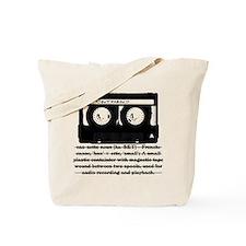 Cassette - Definition Tote Bag