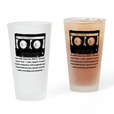 Cassette - Definition Drinking Glass