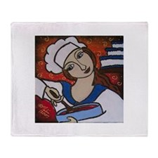 Pastry Chef Throw Blanket