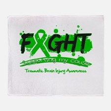 Fight Traumatic Brain Injury Throw Blanket