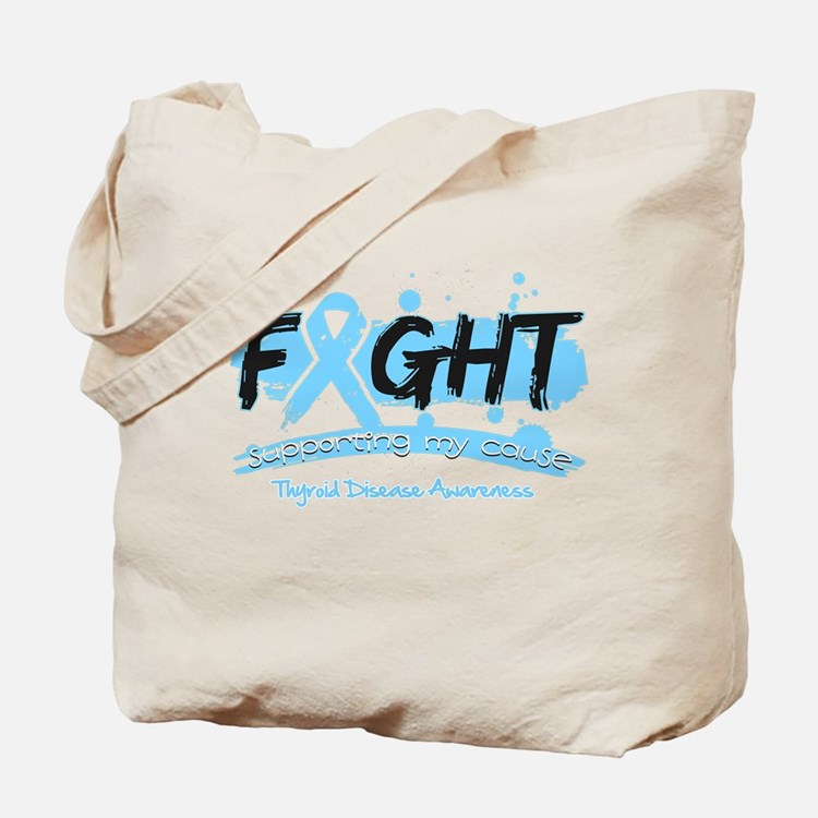Fight Thyroid Disease Cause Tote Bag