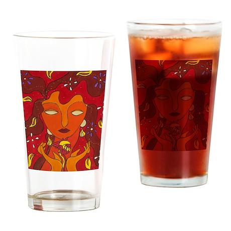 Fire Elemental Drinking Glass