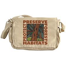 Preserve Forest Habitats Messenger Bag