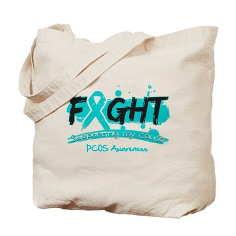 Fight PCOS Awareness Cause Tote Bag