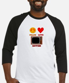 Peace Love Movies Baseball Jersey