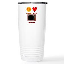 Peace Love Movies Travel Mug