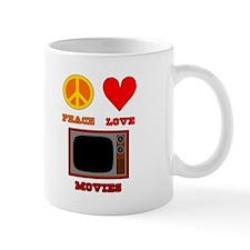 Peace Love Movies Mug