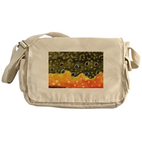 Brook Trout Fly Fishing Messenger Bag