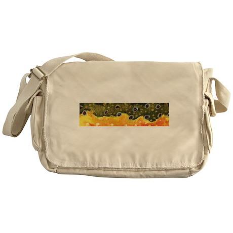 Brook Trout Skin Messenger Bag