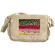 Rainbow Trout Skin Fishing Messenger Bag