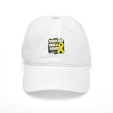 Testicular Cancer ToughMenWearRibbon Baseball Cap