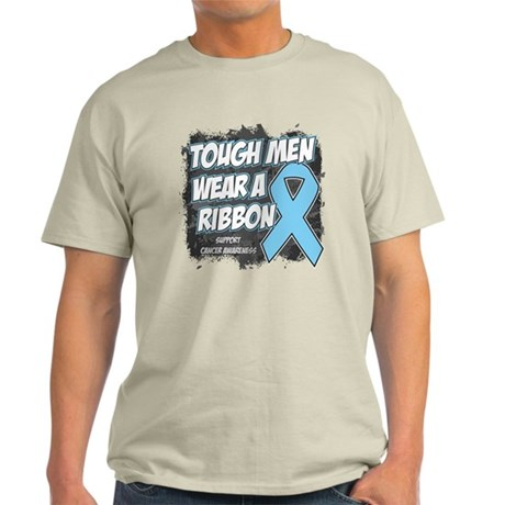 Prostate Cancer ToughMenWearRibbon Light T-Shirt