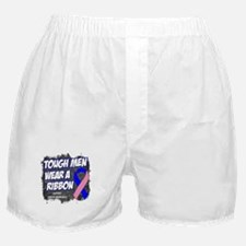 Male Breast Cancer ToughRibbon Boxer Shorts