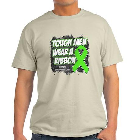Lymphoma ToughMenWearRibbon Light T-Shirt