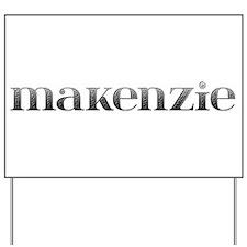 Makenzie Carved Metal Yard Sign