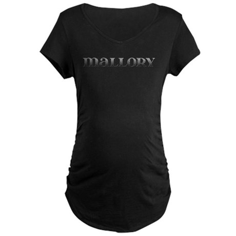 Mallory Carved Metal Maternity Dark T-Shirt