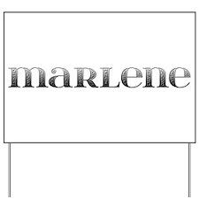 Marlene Carved Metal Yard Sign