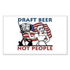 Draft Beer Rectangle Decal