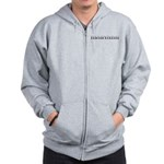 Maryann Carved Metal Zip Hoodie