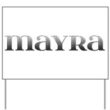 Mayra Carved Metal Yard Sign