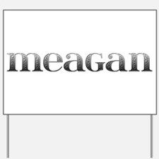 Meagan Carved Metal Yard Sign
