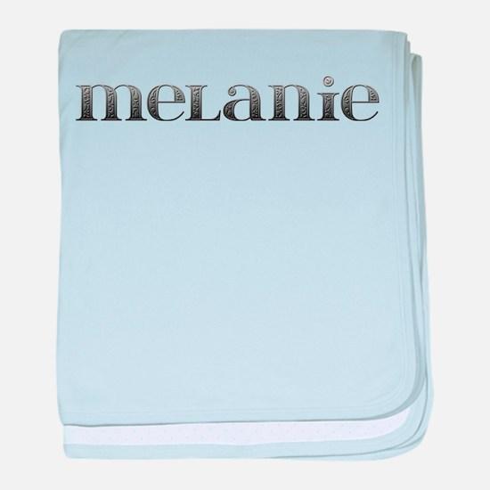 Melanie Carved Metal baby blanket