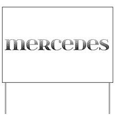 Mercedes Carved Metal Yard Sign