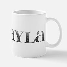 Mikayla Carved Metal Mug