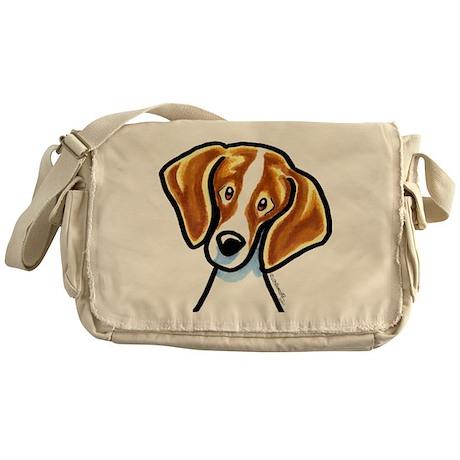 Red White Beagle Face Messenger Bag