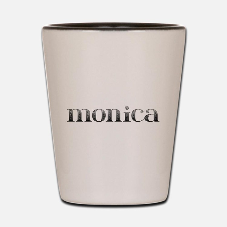 Monica Carved Metal Shot Glass
