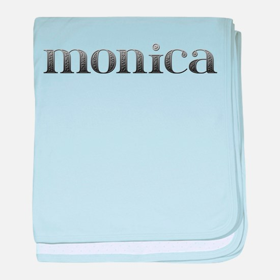 Monica Carved Metal baby blanket