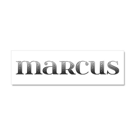 Marcus Carved Metal 10x3 Car Magnet