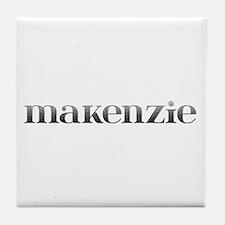 Makenzie Carved Metal Tile Coaster