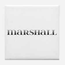 Marshall Carved Metal Tile Coaster