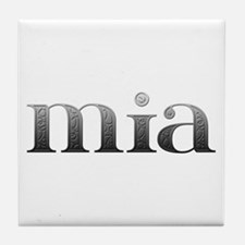 Mia Carved Metal Tile Coaster