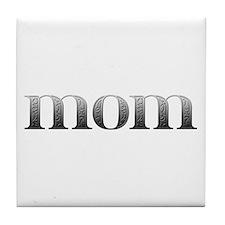 Mom Carved Metal Tile Coaster