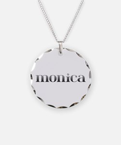 Monica Carved Metal Necklace
