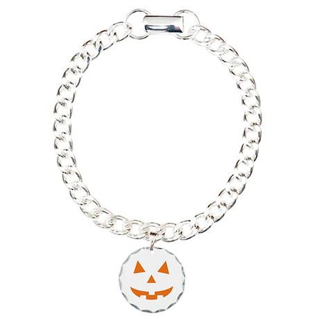 Jack O Lantern Charm Bracelet, One Charm