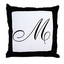 M's Throw Pillow